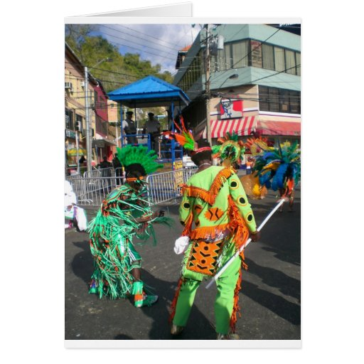 Carnaval 2010 en Trinidad Tarjeta De Felicitación