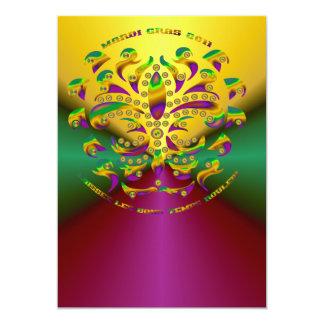 Carnaval 2011 V-2 de la flor de lis Invitación 12,7 X 17,8 Cm