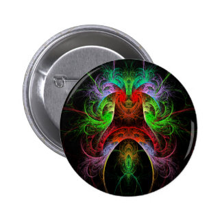 Carnaval Abstract Art Button (round)