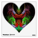 Carnaval Abstract Art Heart Room Decals