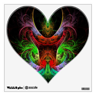 Carnaval Abstract Art Heart Wall Decal