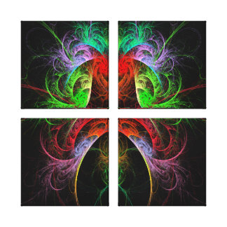 Carnaval Abstract Art Quad Canvas Print