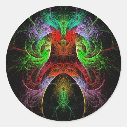 Carnaval Abstract Art Round Sticker