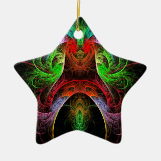 Carnaval Abstract Art Star Ornament