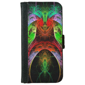 Carnaval Abstract Art Wallet Phone Case For iPhone 6/6s