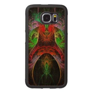 Carnaval Abstract Art Wood Phone Case