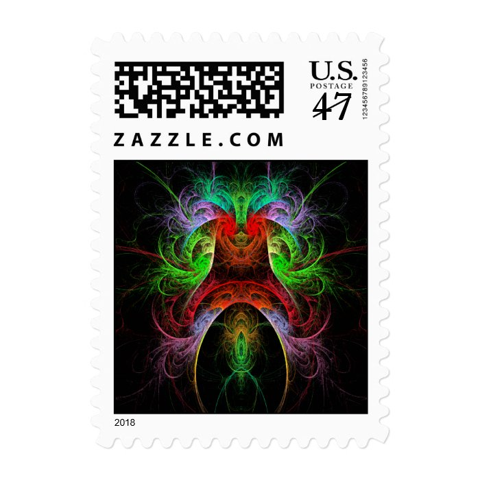 Carnaval Abstract Postage Stamp