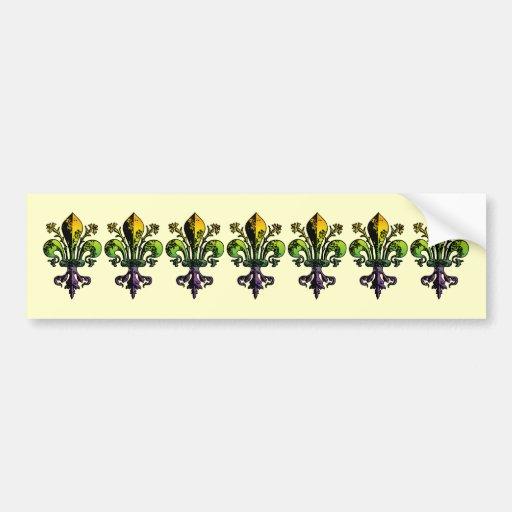 Carnaval antiguo Fleur Etiqueta De Parachoque