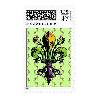 Carnaval antiguo Fleur Sello Postal