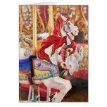 Carnaval - caballos del carrusel felicitaciones