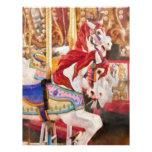 Carnaval - caballos del carrusel plantillas de membrete
