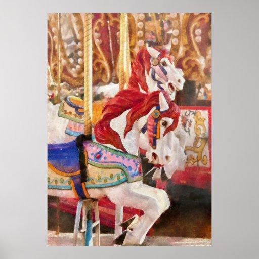 Carnaval - caballos del carrusel posters