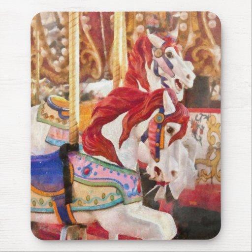 Carnaval - caballos del carrusel tapetes de ratón