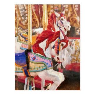 Carnaval - caballos del carrusel tarjeta postal