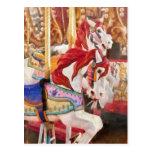 Carnaval - caballos del carrusel tarjetas postales