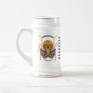 Carnaval Cleopatra VII leído sobre diseño abajo Jarra De Cerveza