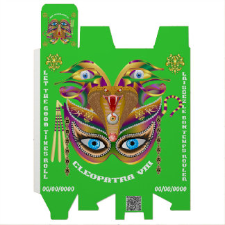 Carnaval Cleopatra-VIIi leída sobre diseño abajo Caja Para Botella De Vino