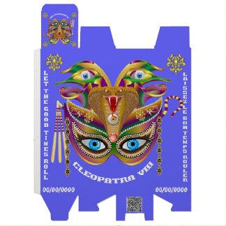 Carnaval Cleopatra-VIIi leída sobre diseño abajo Cajas Para Vino