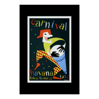 Carnaval Cuba La Habana del poster del viaje del v