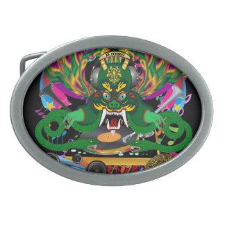 Carnaval D.J. Dragon rey Hebilla Cinturon Oval