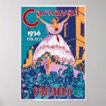 Carnaval de 1936, el 22-25 de febrero, Panamá Póster