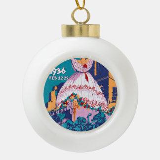 Carnaval de 1936, Feb. 22-25, Panama Ceramic Ball Christmas Ornament