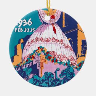 Carnaval de 1936, Feb. 22-25, Panama Ceramic Ornament
