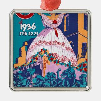 Carnaval de 1936, Feb. 22-25, Panama Metal Ornament