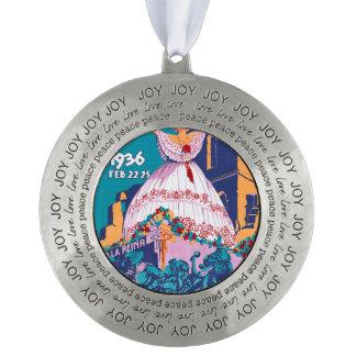 Carnaval de 1936, Feb. 22-25, Panama Pewter Ornament