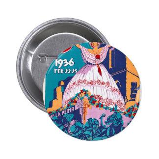 Carnaval de 1936, Feb. 22-25, Panama Pinback Button
