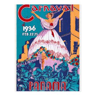 Carnaval de 1936, Feb. 22-25, Panama Postcard