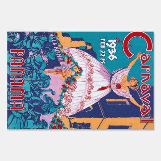 Carnaval de 1936, Feb. 22-25, Panama Sign