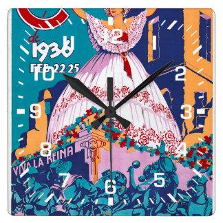 Carnaval de 1936, Feb. 22-25, Panama Square Wall Clock