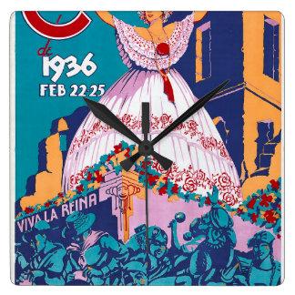 Carnaval de 1936, Feb. 22-25, Panama Square Wallclocks