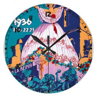 Carnaval de 1936, Feb. 22-25, Panama Wall Clock