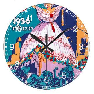 Carnaval de 1936, Feb. 22-25, Panama Wall Clocks