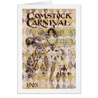 Carnaval de Comstock Tarjeta De Felicitación
