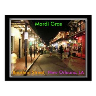 Carnaval de la calle de Borbón, New Orleans, LA po Postal
