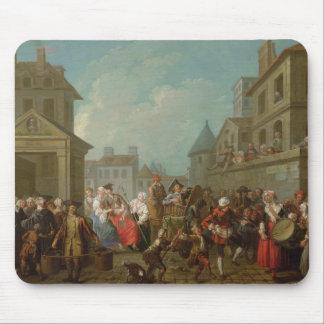 Carnaval de la calle en París, 1757 Alfombrilla De Raton