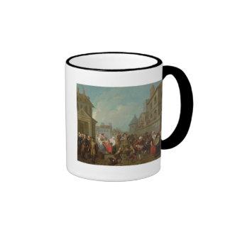 Carnaval de la calle en París, 1757 Tazas De Café