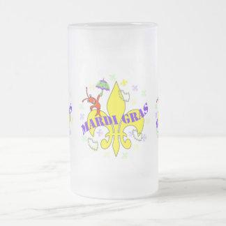 Carnaval de los cangrejos de la flor de lis taza de café