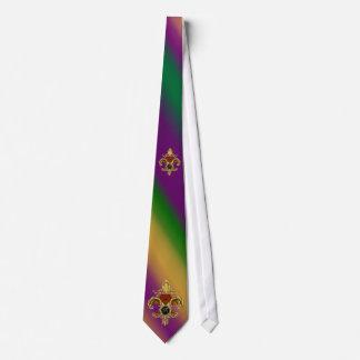 Carnaval de Monogram Fleur de Liz de la R-Letra Corbatas Personalizadas