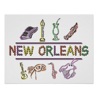 Carnaval de New Orleans Posters