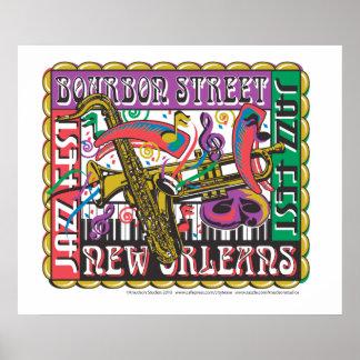 Carnaval de New Orleans Poster