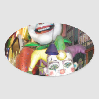 Carnaval de NOLA Pegatina Ovalada
