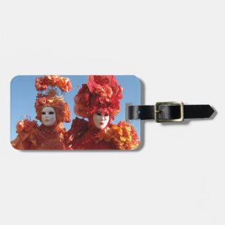 Carnaval de Venecia Etiqueta Para Maleta