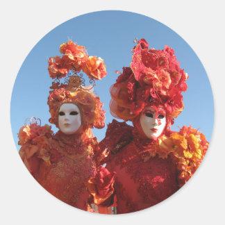 Carnaval de Venecia Pegatina Redonda