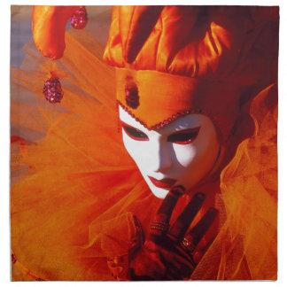 Carnaval de Venecia Servilleta Imprimida