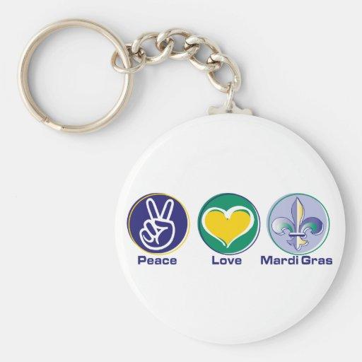 Carnaval del amor de la paz llavero personalizado