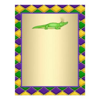 Carnaval del cocodrilo flyer personalizado